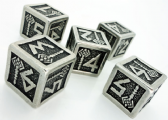 Metal D6 Dwarven Dice Set